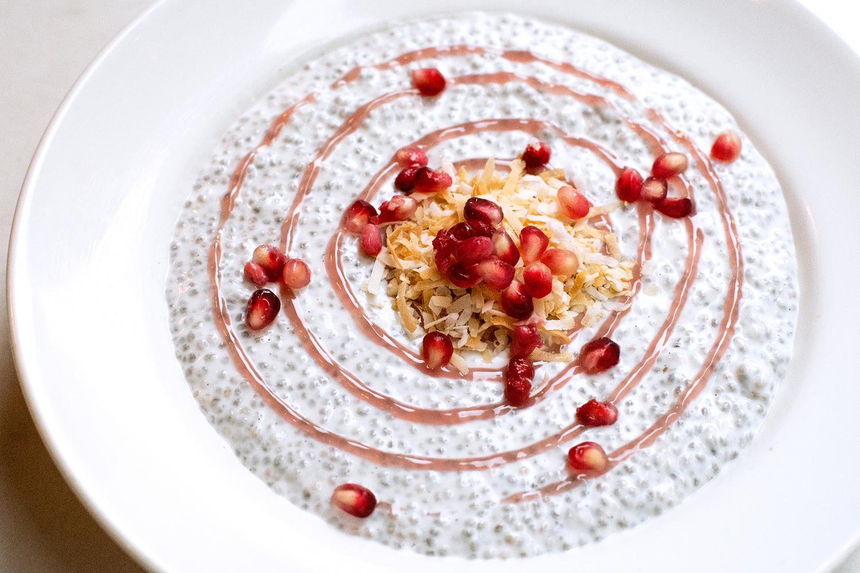 Chia Pudding Food Photography