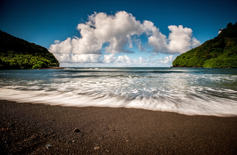 Black Sand Beach Location Photography