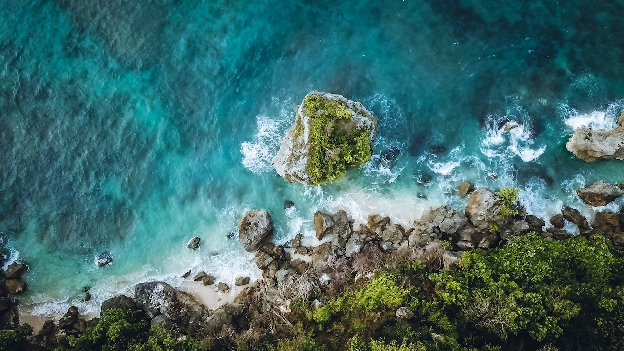 Drone Beach Location Photography